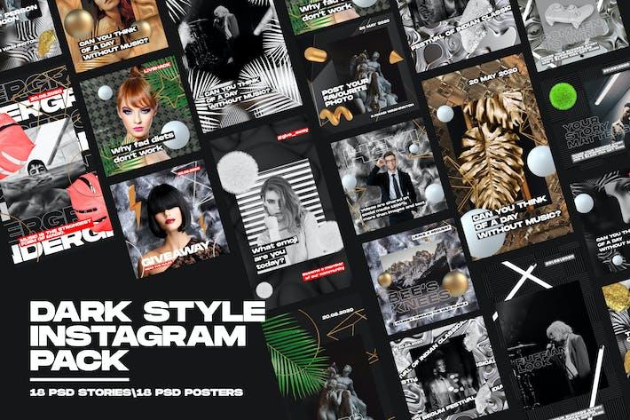 Thumbnail for Dark Style Instagram Pack