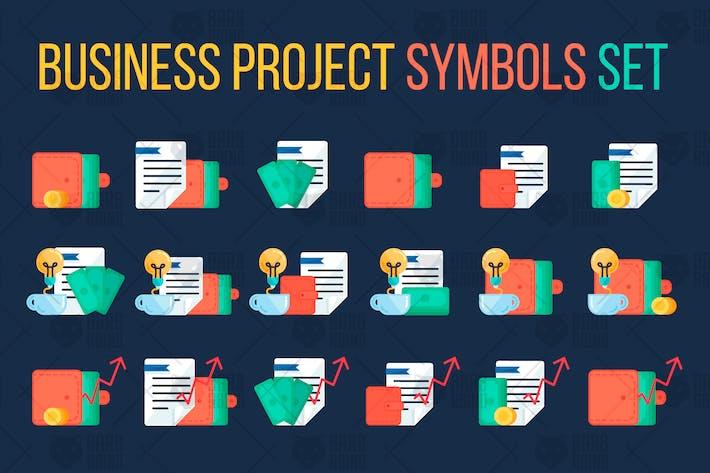 Thumbnail for Geschäftsprojektsymbole Set