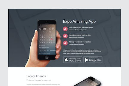 Expo Unbounce Product Landing Page