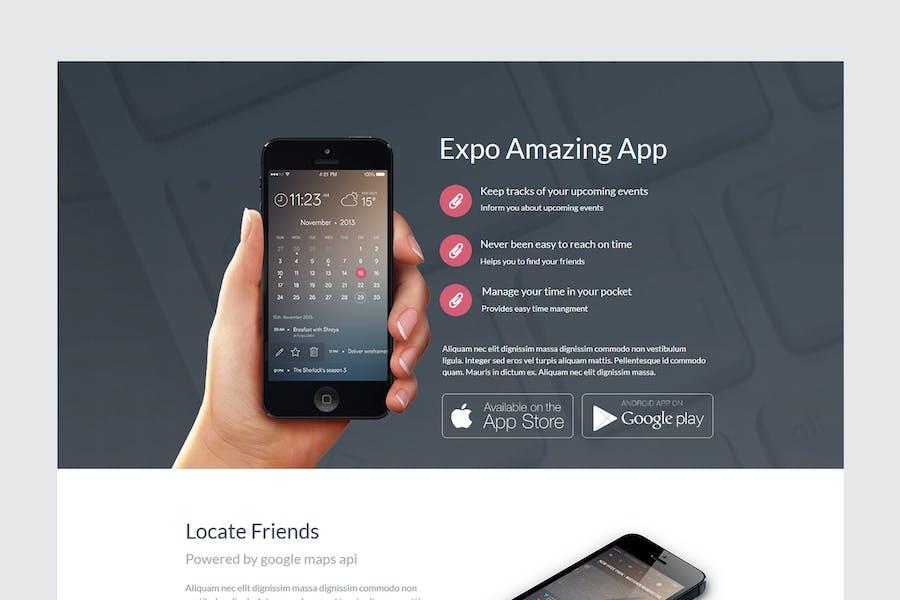 Детальная страница продукта Expo Unbounce