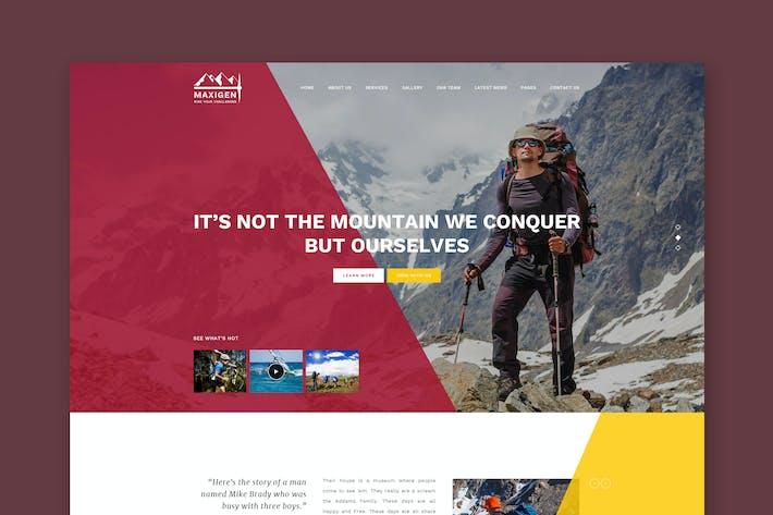 Thumbnail for Maxigen - Wandern & Outdoor PSD Vorlage