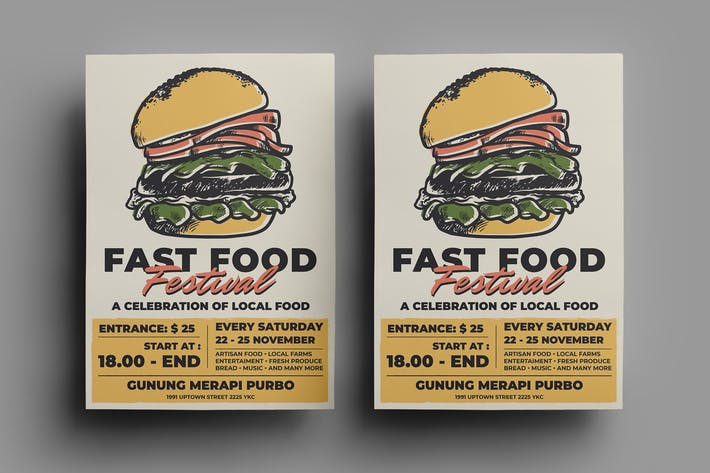 Thumbnail for Fast Food Flyer Design.18