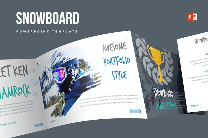Thumbnail for Snowboard Powerpoint Template