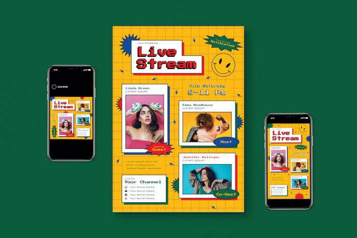 Thumbnail for Live Stream Flyer Pack