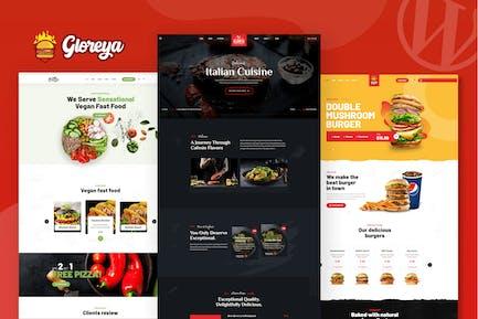Gloreya — Fast-Food-Restaurant WordPress-Theme