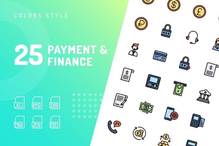 Thumbnail for Payment & Finance Color Icons