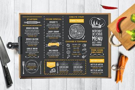 Menu Food Placemat