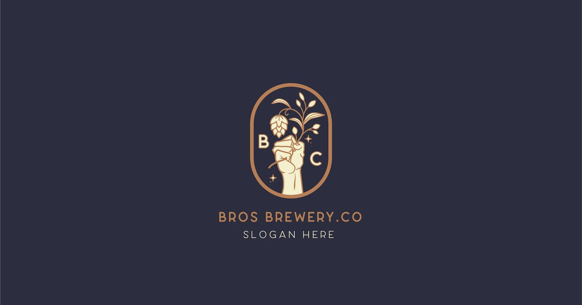 Download Brewery Brotherhood cafe beer Logo Template by NEWFLIX