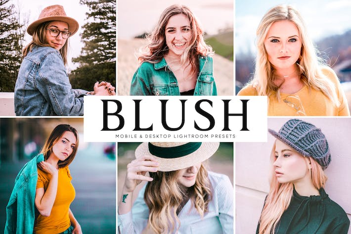 Cover Image For Blush Mobile & Desktop Lightroom Presets