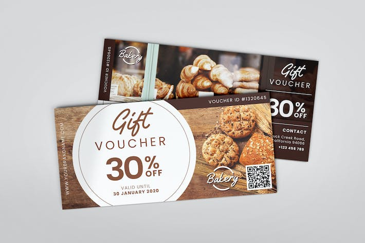 Thumbnail for Delicious Bakery AI and PSD Gift Voucher