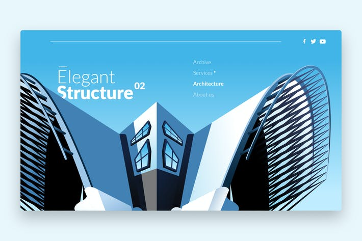 Thumbnail for Elegant Structure - Banner & Landing Page