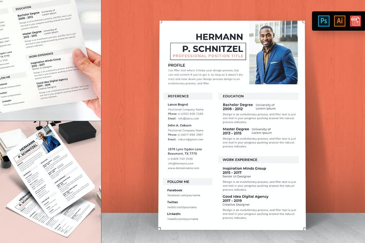 Thumbnail for Resume CV Template-24