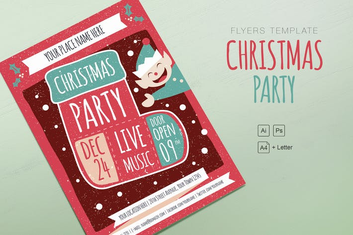 Cover Image For Christmas Kids Party Flyer