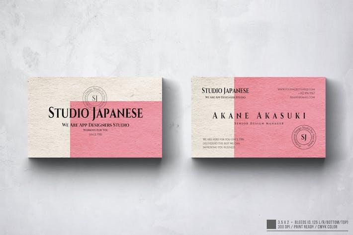 Thumbnail for Akane Japanese Business Card Design