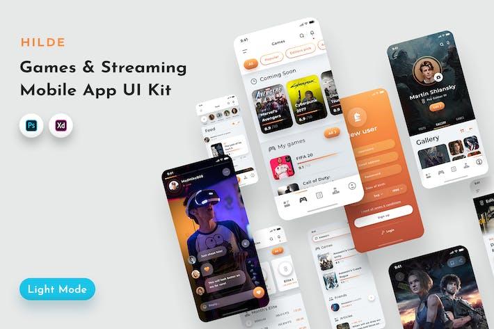 Thumbnail for Hilde Gaming & Streaming App UI Kit