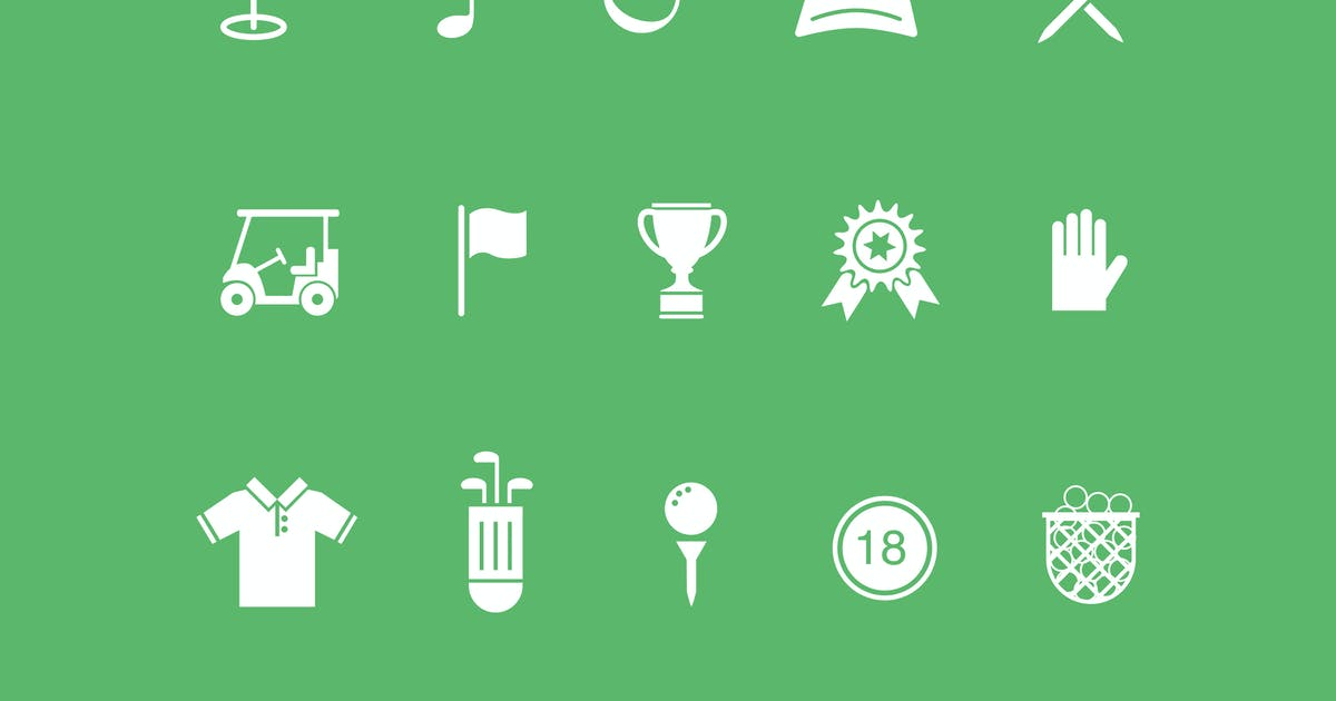 Download 15 Golf Icons by creativevip