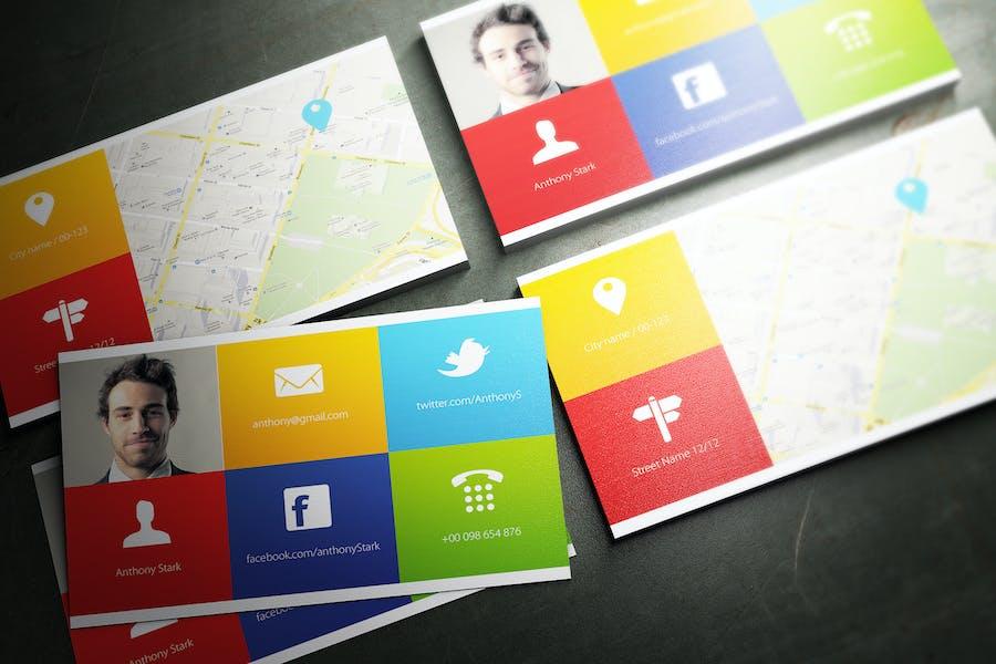Colors Business Card Design