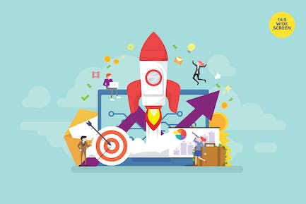 Startup Product Launch Vector Concept