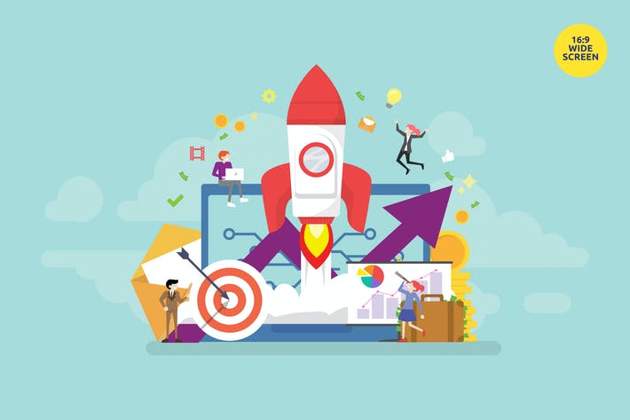 Thumbnail for Startup Product Launch Vector Concept