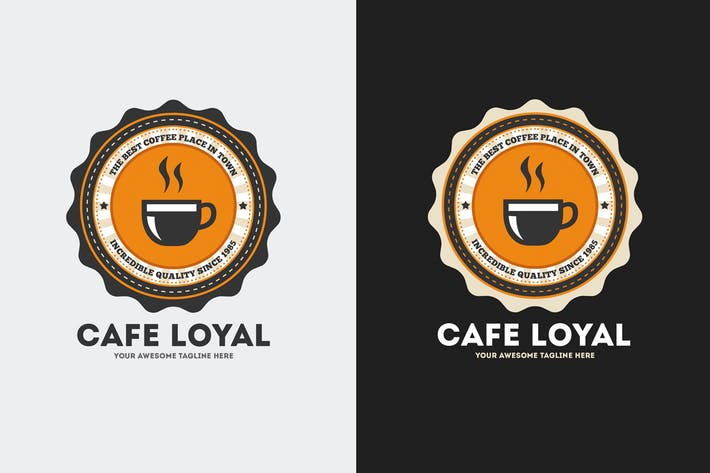 Thumbnail for Cafe Loyal Logo Template