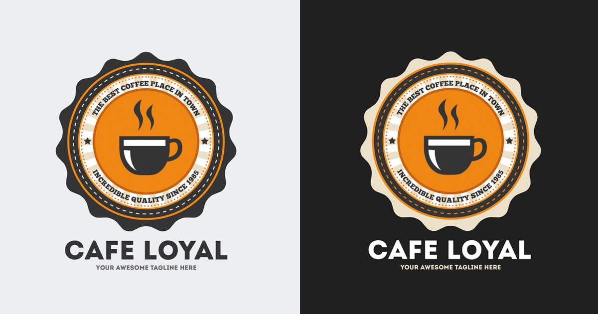 Download Cafe Loyal Logo Template by Odin_Design