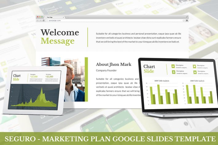 Thumbnail for Seguro - Marketing Plan Google Slides Template