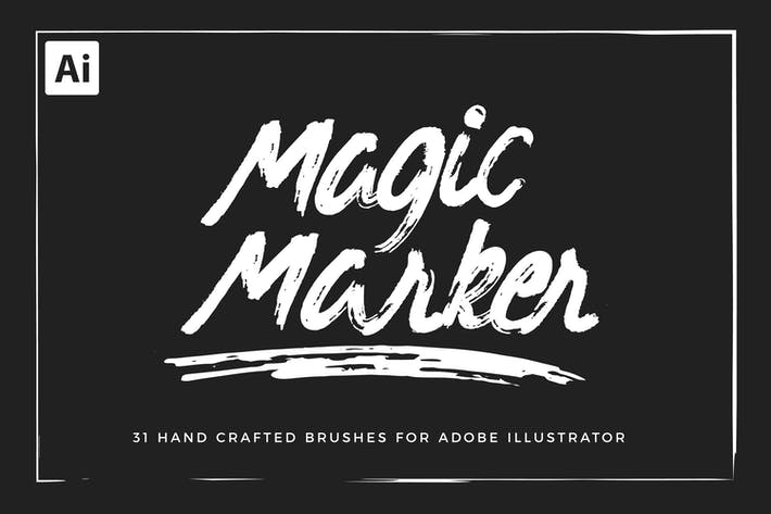 Thumbnail for Magic Marker Brushes For Illustrator