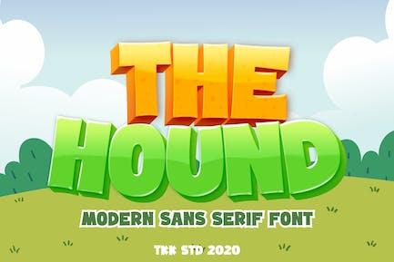 The Hound - Police de dessin animé de jeu
