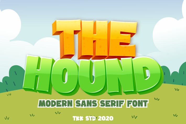The Hound - Gaming cartoon font