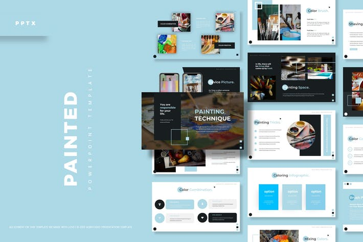 Thumbnail for Painted - Powerpoint Template
