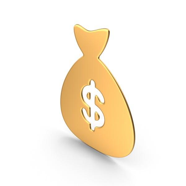 Money Bag Gold Symbol