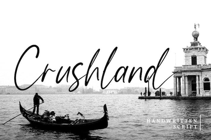 Crushland-Handwritten Font