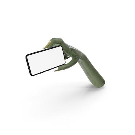 Creature Hand Holding a Phone Landscape
