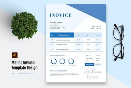 Matic Invoice Template Design