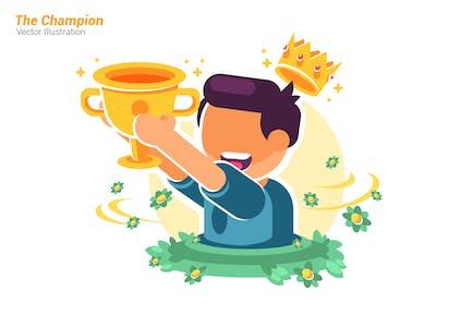 The Champion - Vector Illustration
