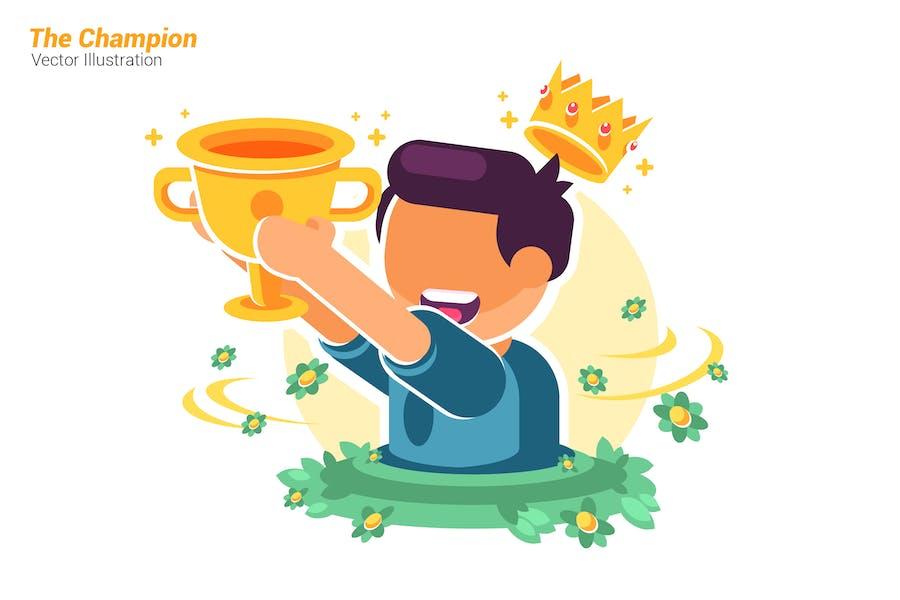 Der Champion - Vektor illustration