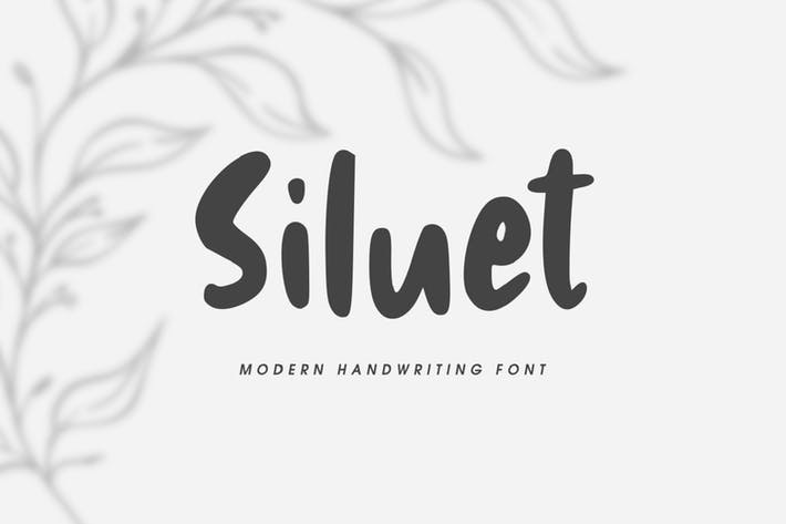 Thumbnail for Siluet - Modern Handwriting Font