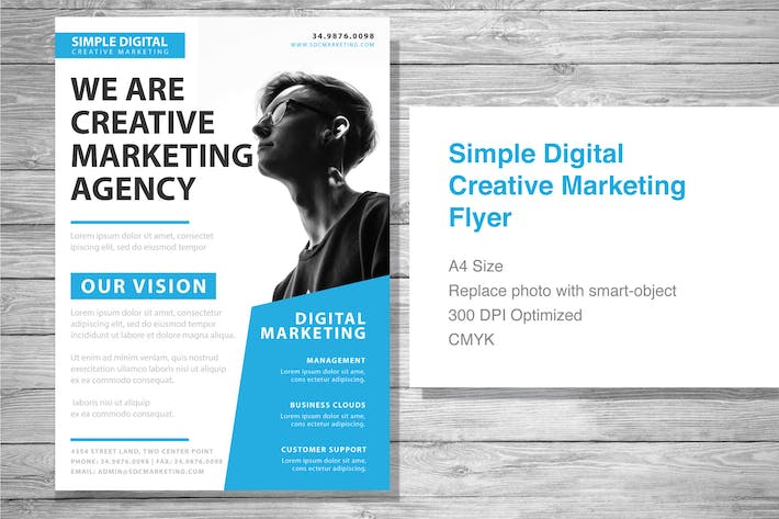 Thumbnail for Simple Digital Creative Marketing Flyer