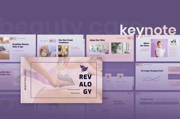 Thumbnail for Revalogy - Spa & Beauty Care Keynote