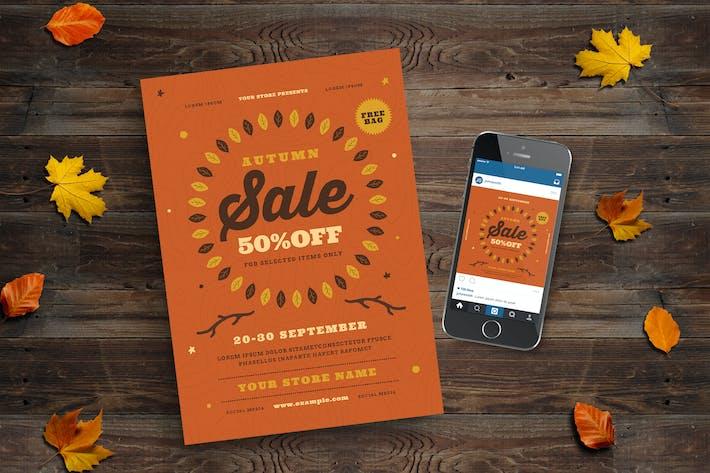 Thumbnail for Autumn Sale Flyer + Instagram Post