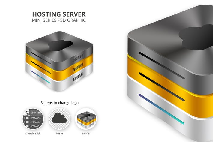 Thumbnail for Hosting Server Mini Series - Black Gold Silver