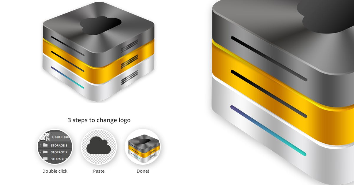 Download Hosting Server Mini Series - Black Gold Silver by themeboo