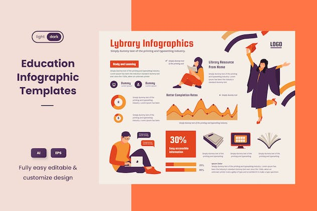 Infographic Chart Elements for Education V.02 - product preview 2