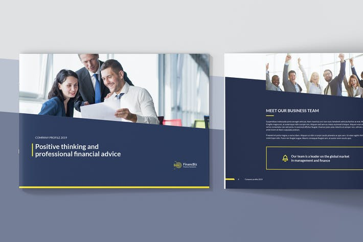 Thumbnail for FinancBiz – Company Profile Landscape