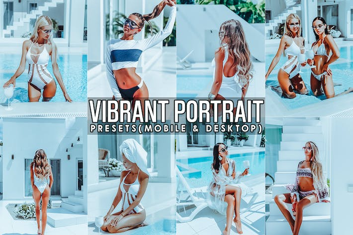 Thumbnail for Vibrant Portrait Presets Mobile and PC