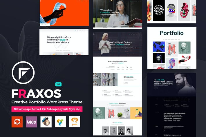 Thumbnail for Fraxos - Porfolio Creativo WordPress Tema Typ