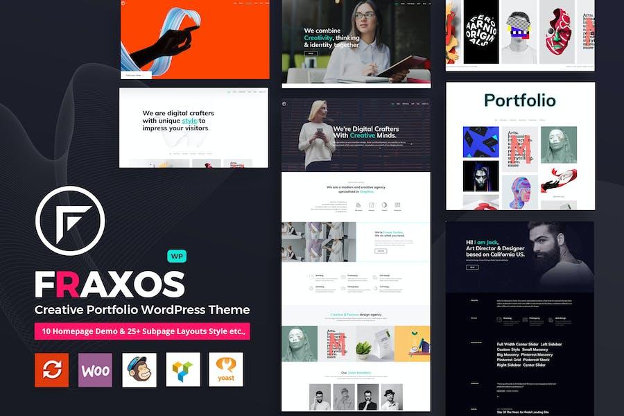Fraxos - Creative Portfolio WordPress Theme    Typ