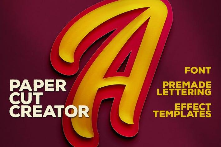 Thumbnail for Double Paper Cut Effect & Lettering