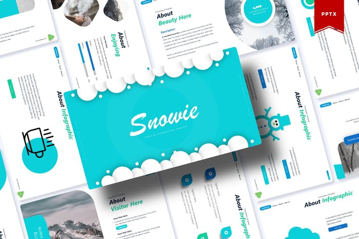 Thumbnail for Snowie   Powerpoint Template