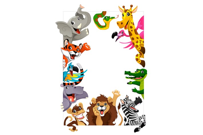 Thumbnail for Group of Jungle Animals